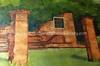 SR 443  Artist's depiction of Beracha Ve Shalom Synagogue, Jodensavanne