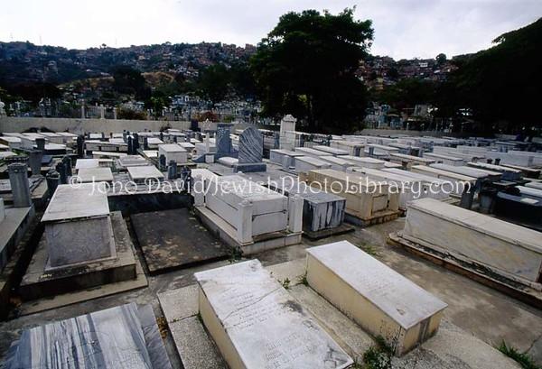 VENEZUELA, Caracas. Jewish sector, Cementerio del Sur. (2008)