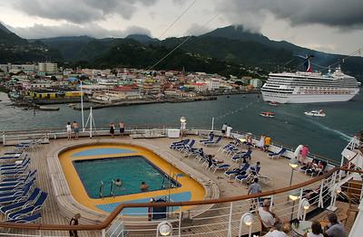 Leaving Roseau, Dominica