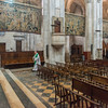 Tapestries draped at the Cathédrale Saint-Maurice, Vienne, France.