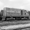 Southern Pacific ALCo HH660 1001 at Watson Yard., March 14, 1963<br /> <br /> Photographer Robert L Muirhead<br /> Jeffrey J Moreau Collection<br /> Catalog Number 000130019