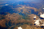 Aerial view of Pyrenees mountains