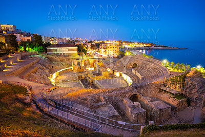 Amphitheater of Tarragona at sunset in Catalonia