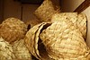 African traditional handcraft round baskets