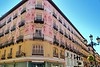Zaragoza city Spain Alfonso I street coloful building