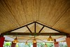 African traditional ethnic house vegetal ceiling