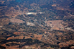 Segorbe and Altura villages aerial in Castellon