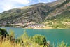 Lanuza village lake Huesca Pyrenees Spain