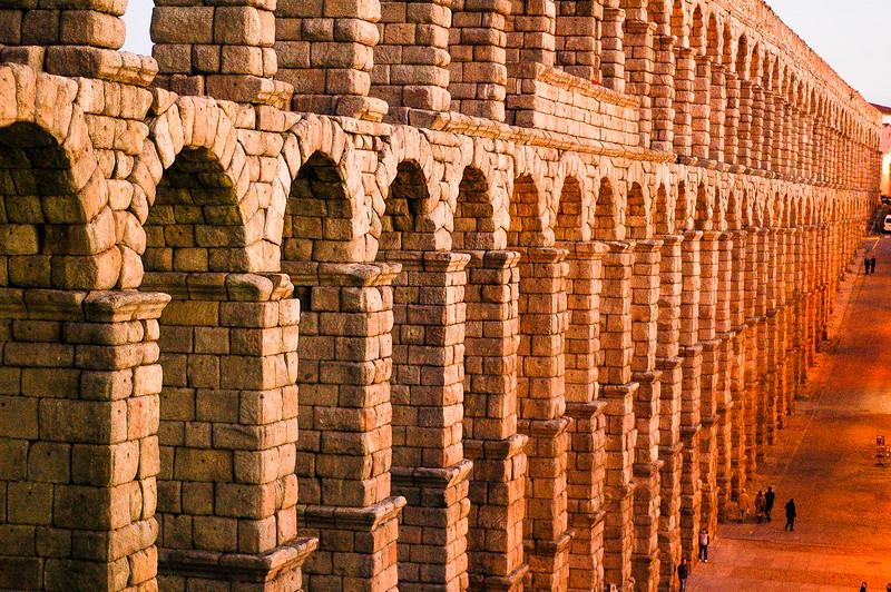 """2000 Year-Old Roman """"Aqueduct of Segovia""""<br /> Segovia, Region of Castilla y León"""