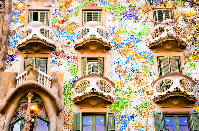 Antoni Gaudí's Casa Batllo<br /> Barcelona