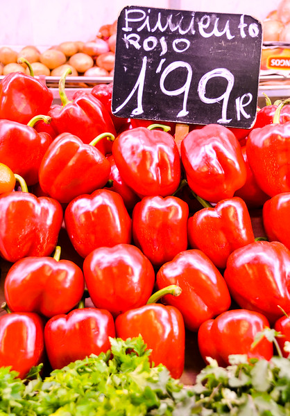 Peppers at La Boqueria Market<br /> Barcelona