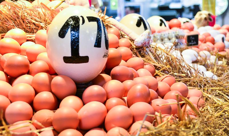 Huevos<br /> La Boqueria Market<br /> Barcelona
