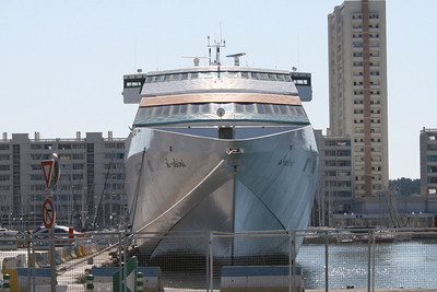 HSC AL SABINI laid up in Toulon. Front view.