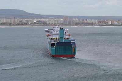 F/B BORJA departing from Palma de Mallorca.