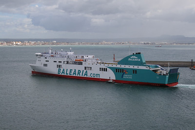 F/B BORJA departing from Palma de Mallorca.