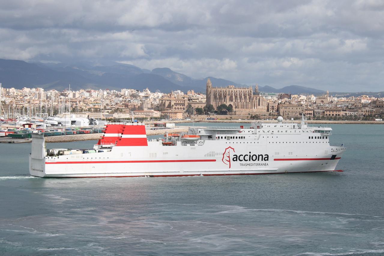 2009 - F/B MURILLO departing from Palma de Mallorca.