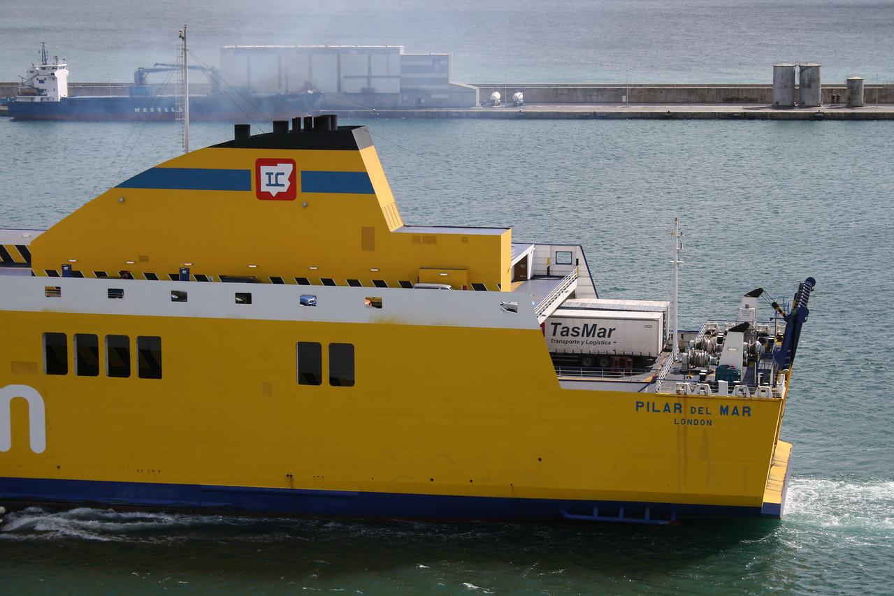 2009 - F/B PILAR DEL MAR departing from Palma de Mallorca.