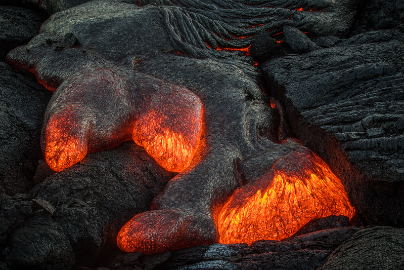 Lava Flow - On the East Rift Zone-By John German