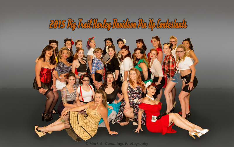 2015 PIG TRAIL HARLEY DAVIDSON VINTAGE PIN UP CONTEST