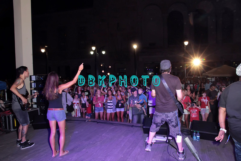 ATLANTIC CITY, NJ - JULY 04:  Musician Kevin Rudolf and band performed a free concert for 4th Of July Concert And Firework Celebration at Kennedy Plaza on July 4, 2012 in Atlantic City, New Jersey.