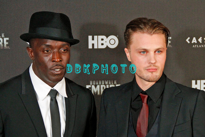 """ATLANTIC CITY, NJ SEPTEMBER 16, 2010 """"Boardwalk Empire"""" has it's Red Carpet and Premier HBO showing at Caesars Atlantic City Thursday night.<br /> Michael K. Williams and Vincent Piazza"""