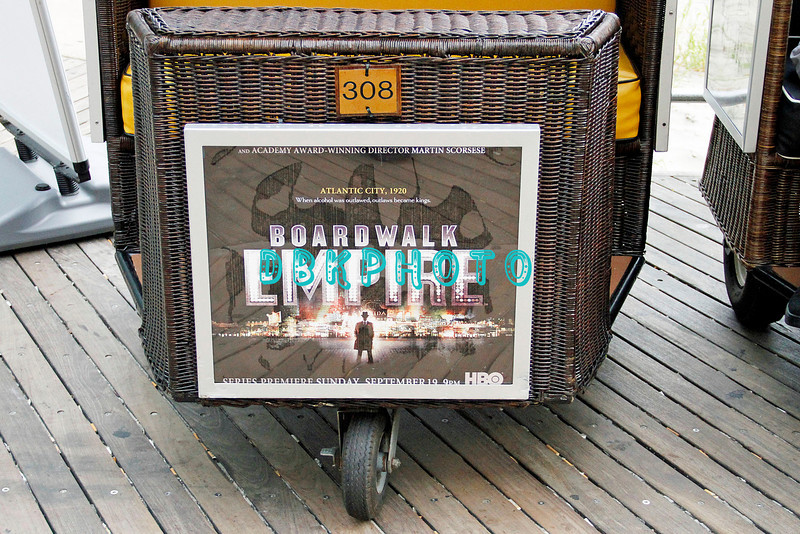 """ATLANTIC CITY, NJ SEPTEMBER 16, 2010 """"Boardwalk Empire"""" has it's Red Carpet and Premier HBO showing at Caesars Atlantic City Thursday night.<br /> Atlantic City Rolling chairs advertise the HBO show"""