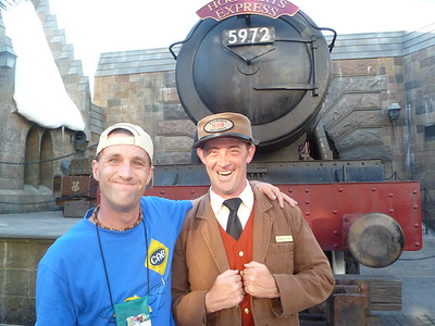 Dave on Harry Potter Tour in September 2011