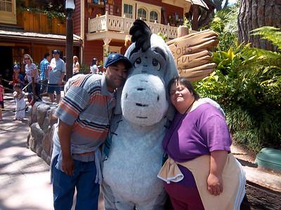 Tariq and Barbara in Disneyland in June 2011