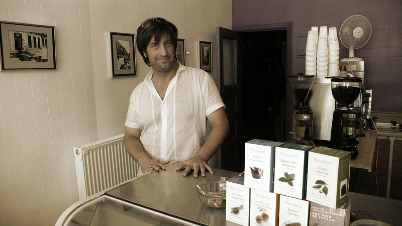 Balluchon (organic fair trade coffee shop) owner Raymond.