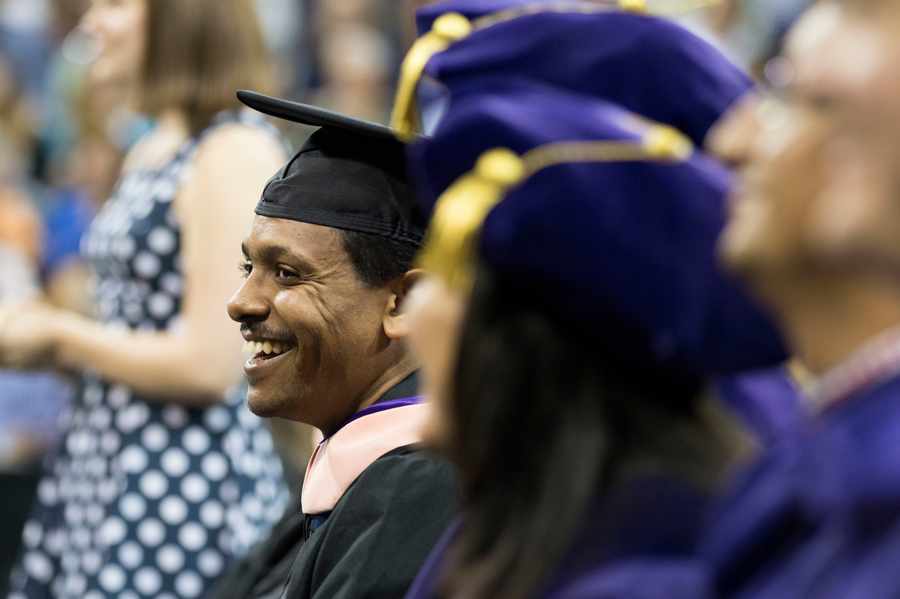 UW School of Public Health Graduation is held on June 10, 2015 at the Alaska Airlines Arena.   Photography release notices at event.