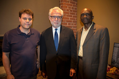 Hangin' with CNN's Wolf Blitzer, and Rev. Dr. T. Anthony Spearman at the Lenior-Rhyne political discussion.