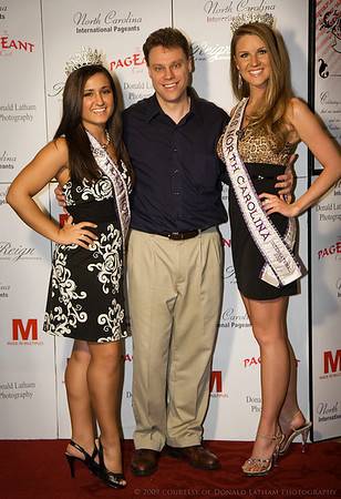 Alan at the Ms. NC Pageant with the 2008 winners.   Photo courtesy of Donald Latham.