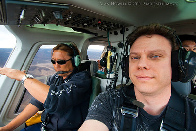 Shooting film from a helicopter in Kona, Hawaii.