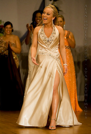 Julie Tesh, 2009 Miss North Carolina International, on her way to the crown.