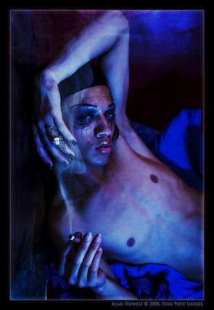 Mulit-talented model and acrobatic performer Chauncey displaying his unique look and style.