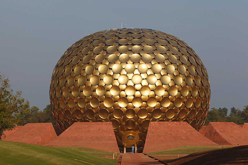 Matrimandir - Temple of the Divine Mother - the heart of Auroville / Матримандир - Храм Божественной Матери - сердце Ауровиля