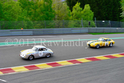 #51 PORSCHE 356 1961 #2 JAGUAR Type E 1962 SPA_5214