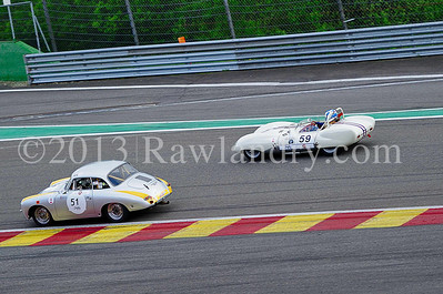 #51 PORSCHE 356 1961 #59 LOTUS XI 1500 1958 SPA_8530