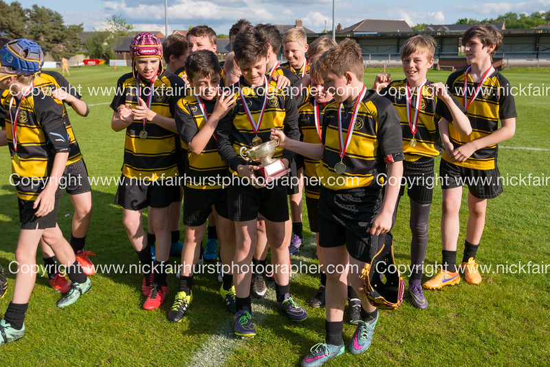 """Year 7 Wigan and Leigh Champion Schools Final 2016, St John Fisher v St Peter's, Edge Hall Road, Orrell, Tuesday 24th May 2016:  St Peter's.  Picture by  <a href=""""http://www.nickfairhurstphotographer.com"""">http://www.nickfairhurstphotographer.com</a>"""