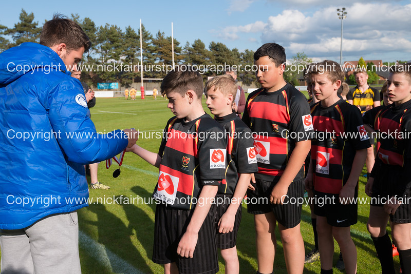 "Year 7 Wigan and Leigh Champion Schools Final 2016, St John Fisher v St Peter's, Edge Hall Road, Orrell, Tuesday 24th May 2016.  Picture by  <a href=""http://www.nickfairhurstphotographer.com"">http://www.nickfairhurstphotographer.com</a>"