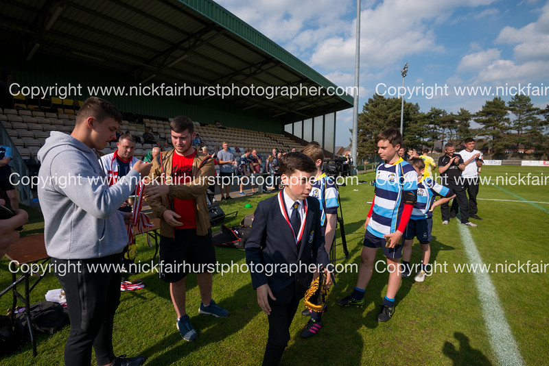 """Year 8 Wigan and Leigh Champion Schools Final 2016, St Mary's v St Peter's, Edge Hall Road, Orrell, Friday 27th May 2016:  St Mary's.  Picture by  <a href=""""http://www.nickfairhurstphotographer.com"""">http://www.nickfairhurstphotographer.com</a>"""