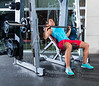 Incline Barbell Bench Press woman in multipower