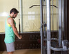 Triceps pressdown high pulley workout man