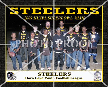 10X8 STEELERS  11-12 YRS OLD