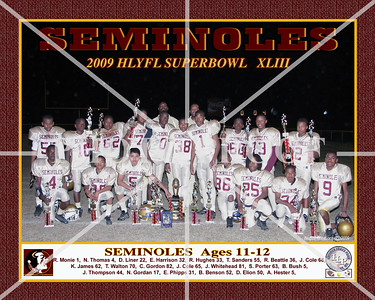 10X8 SEMINOLES  11-12YRS