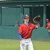 Charlie Yanoski  warms up at the Cooperstown Park.