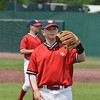 Jason Kelly warms up at the Cooperstown Park.