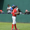 Alex Singer warms up at the Cooperstown Park.