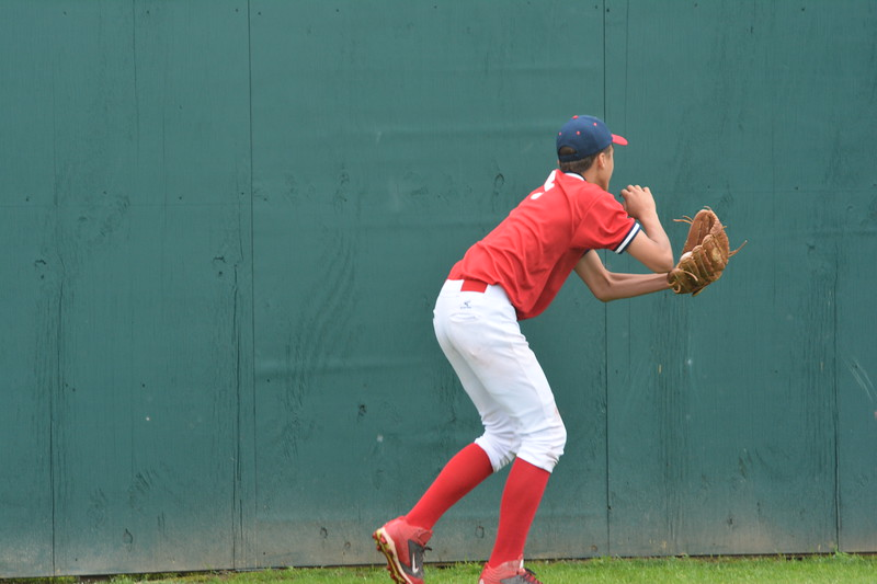 Jayden Brown warms up at the Cooperstown Park.