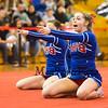 Winnacunnet's Noelle McGee, Kristen Immoor (front) during Sunday's 2014 NHIAA Division II Fall Spirit Championships at Pinkerton High School on 11-9-2014.  Matt Parker Photo